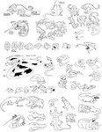 Concept Art: Collection of Character Development Sketches by Amanda Marie Fulk