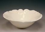 Scrolled Rim Carved Bowl by Patricia A. Jones