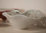 Dot to Dot Pierced Bowl by Patricia A. Jones