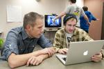 Chris Haskell, 3D Gamelab, Student Jesse Oliver