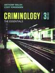 Criminology: The Essentials by Anthony Walsh and Cody Jorgensen