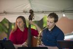 Boise State University Jazz Ensemble, Bass and Sax by Allison Corona